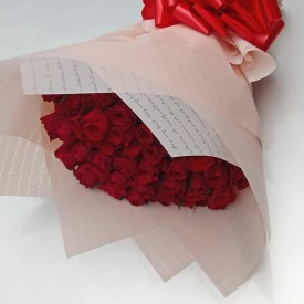 Roses Bouquet with free...